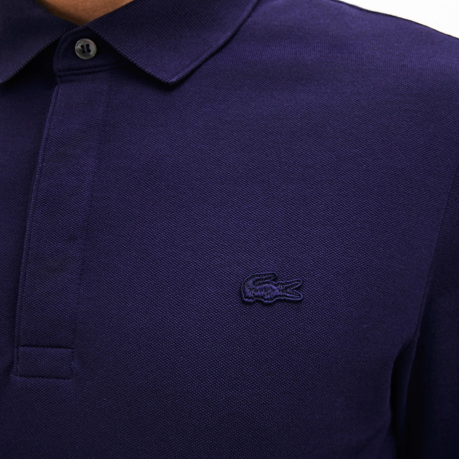 Lacoste Long Sleeve Paris Polo Shirt - Navy