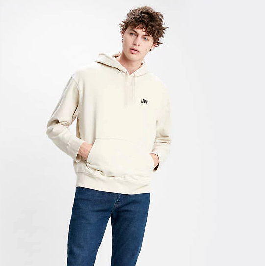 Levi's Authentic Logo Hooded Sweatshirt - Off White
