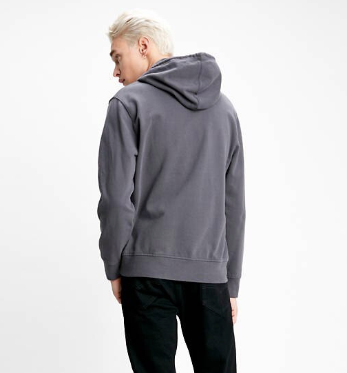 Levi's Colour Block Hooded Sweatshirt - Dark Grey