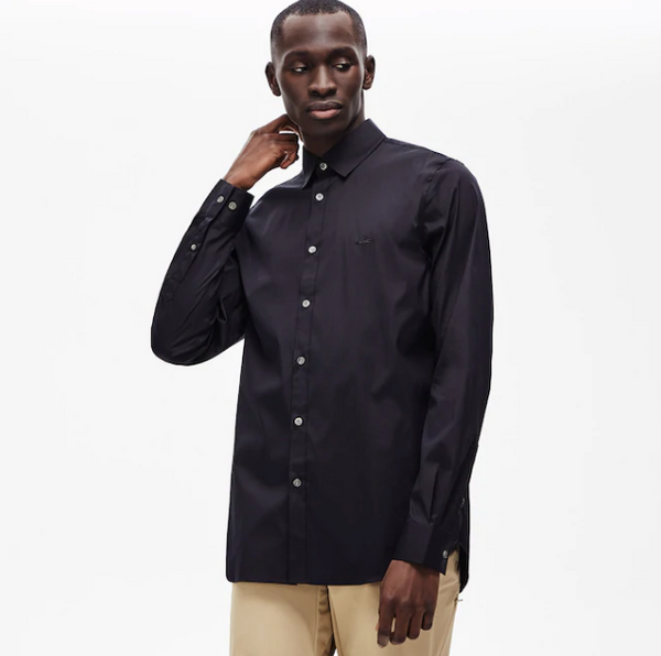 Lacoste Slim Fit Stretch Shirt - Dark Navy