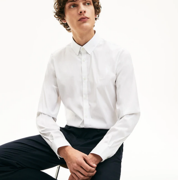 Lacoste Slim Fit Stretch Shirt - White
