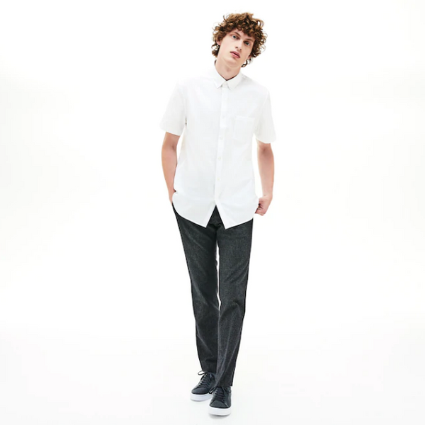Lacoste Mini Pique Short Sleeve Shirt - White