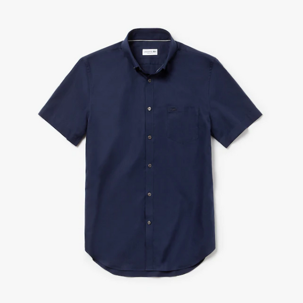 Lacoste Mini Pique Short Sleeve Shirt - Navy