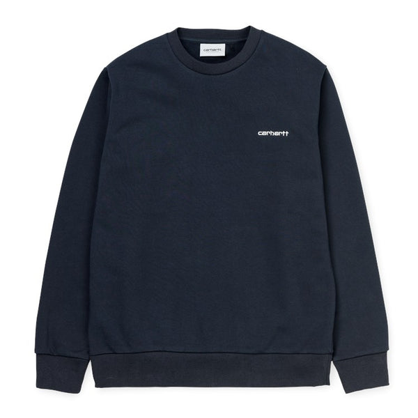 Carhartt WIP Script Embroidery Sweat - Navy