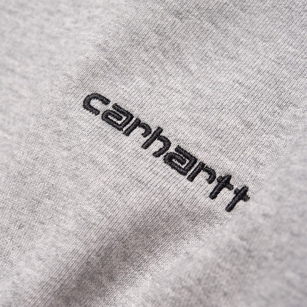 Carhartt WIP Script Embroidery Sweat - Grey Heather