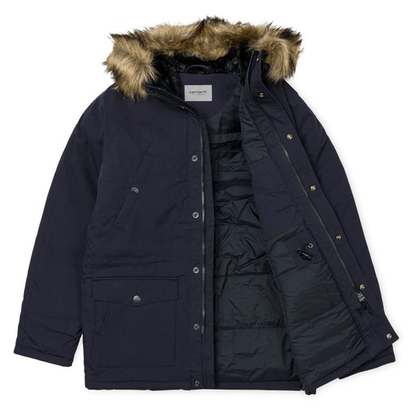 Carhartt WIP Trapper Parka Jacket - Dark Navy
