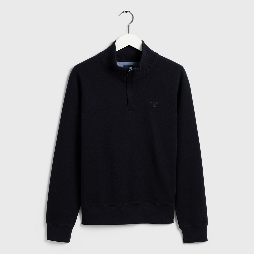 GANT Sacker Rib 1/4 Zip Sweatshirt - Navy