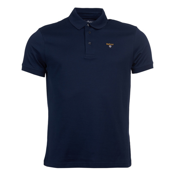 Barbour Saltire Pima Polo Shirt - Navy