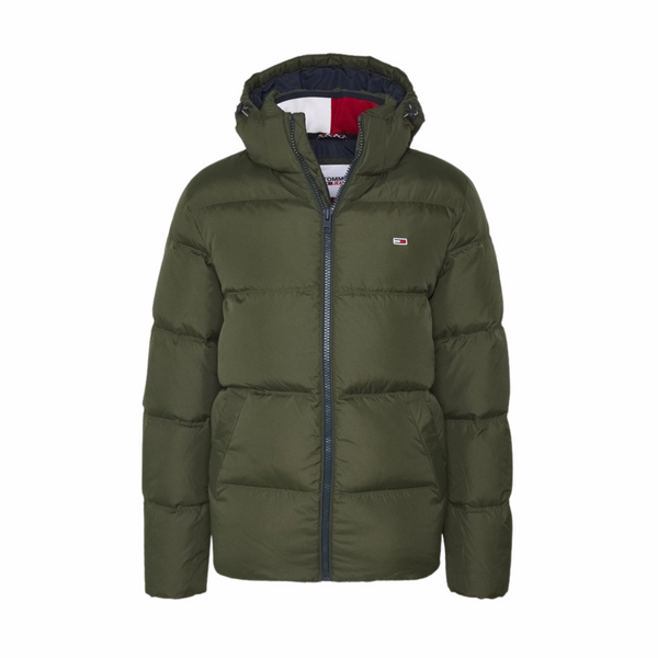 Tommy Jeans Essential Down Jacket - Dark Olive