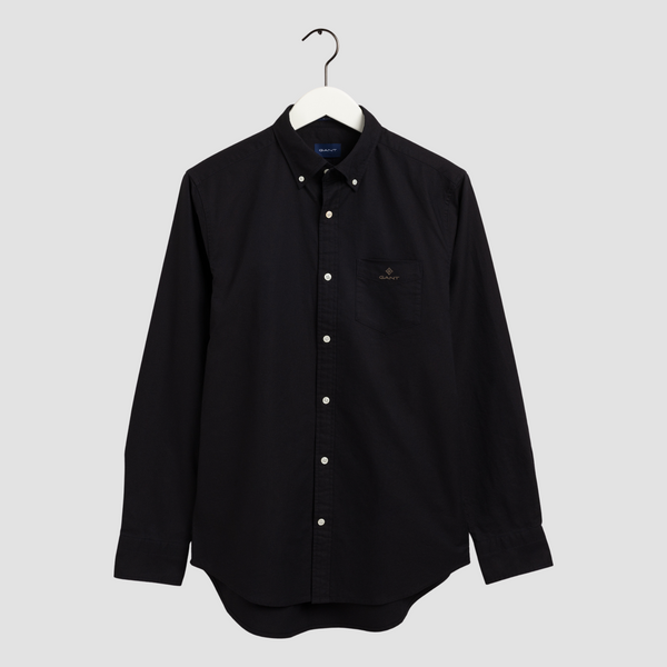 GANT Regular Fit Beefy Oxford Shirt - Black