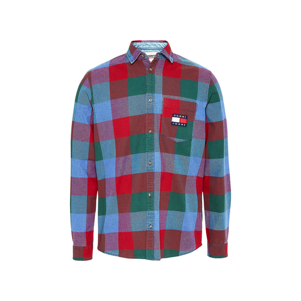 Tommy Jeans Checked Denim Shirt