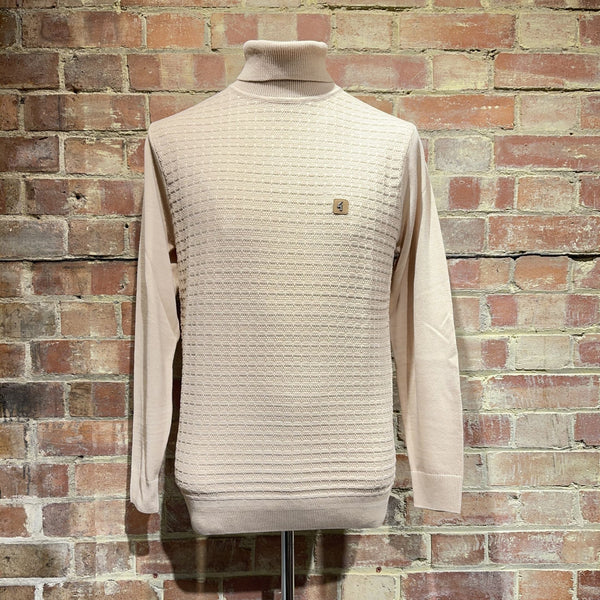 Gabicci Vintage Coaster Roll Neck Knit - Oatmeal