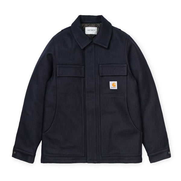 Carhartt WIP Wool Arctic Coat - Dark Navy