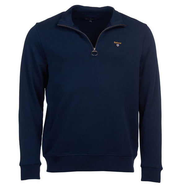 Barbour Saltire 1/4 Zip Sweatshirt - Navy