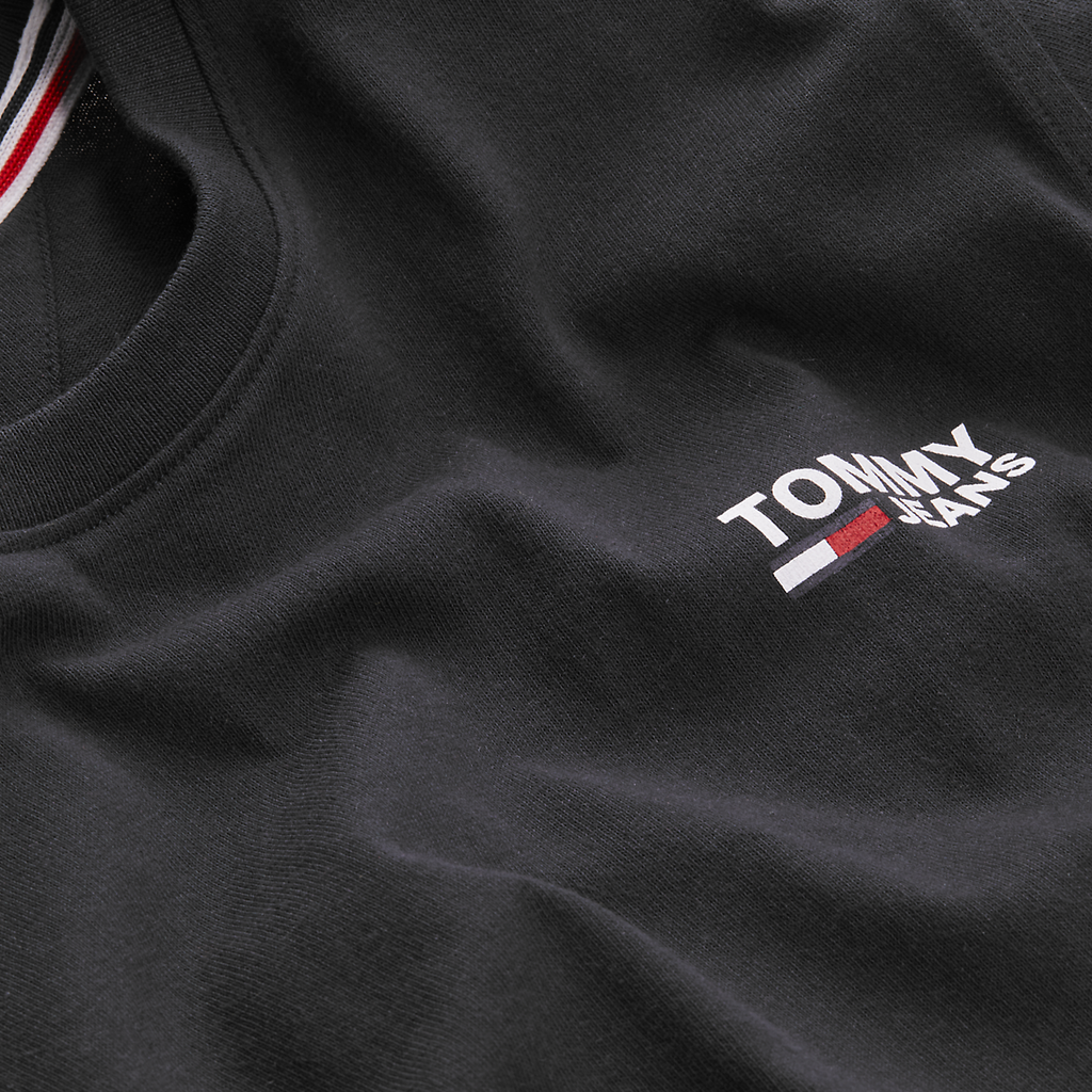 Tommy Jeans Corp Logo T-Shirt - Black
