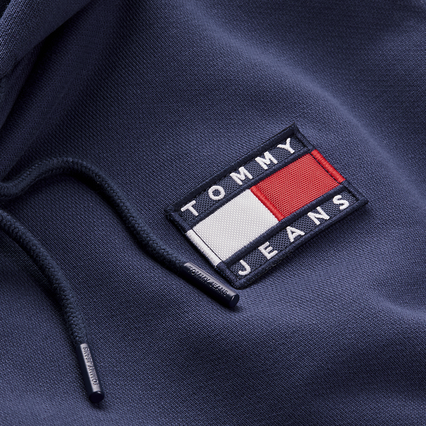 Tommy Jeans Flag Badge Hoody - Navy