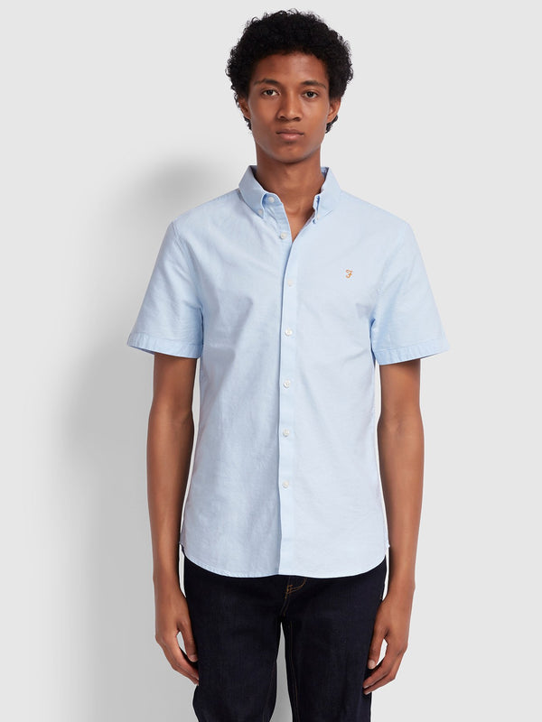Farah Brewer Short Sleeve Shirt - Light Blue