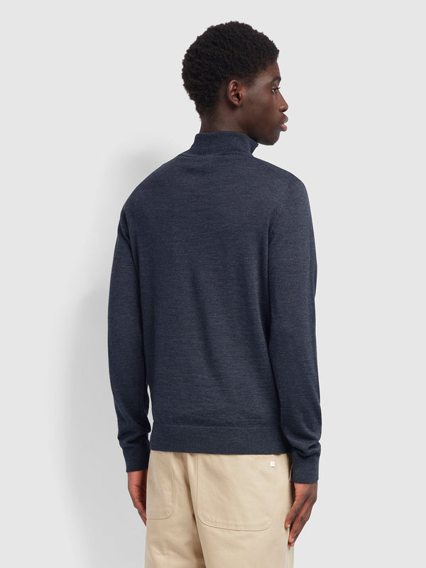 Farah Redchurch 1/4 Zip Merino Jumper - Charcoal