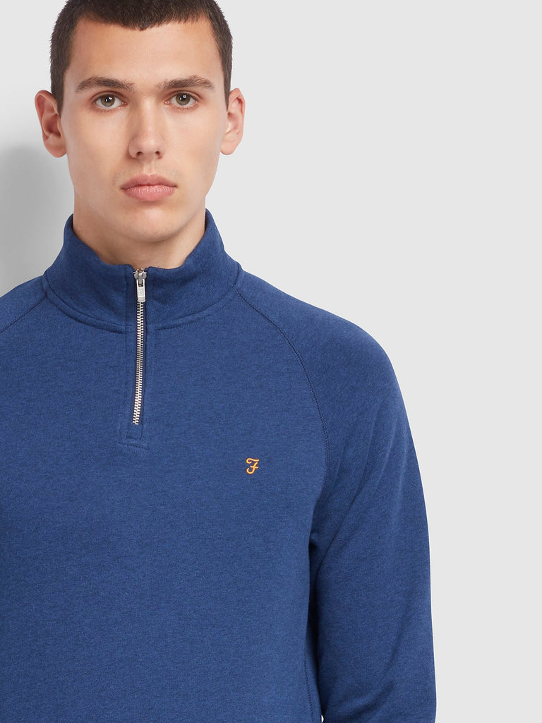 Farah Jim 1/4 Zip Sweatshirt - Blue