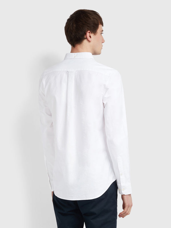 Farah Brewer Long Sleeve Shirt - White