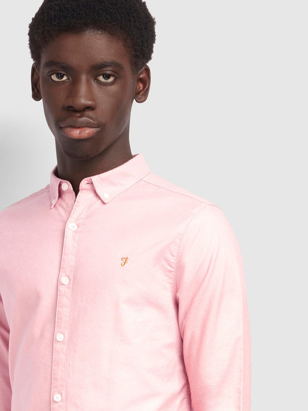 Farah Brewer Slim Fit Oxford Shirt - Blush Pink
