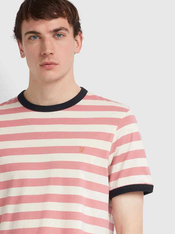 Farah Belgrove T-Shirt - White/Dusty Rose