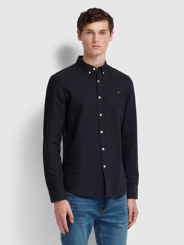 Farah Brewer Long Sleeve Shirt - Navy
