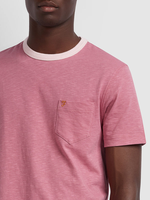 Farah Groove T-Shirt - Dusty Rose