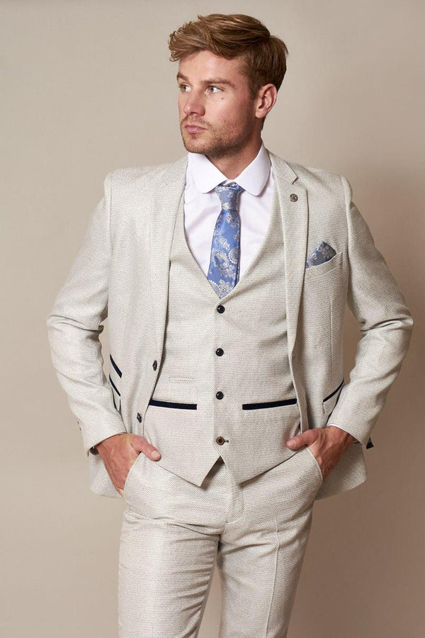 Marc Darcy Ronald Suit Jacket - Stone