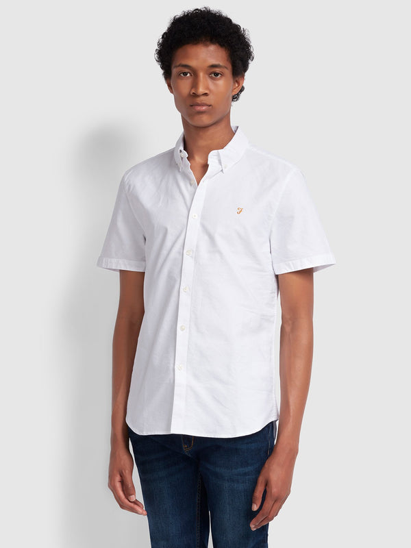 Farah Brewer Short Sleeve Shirt - White