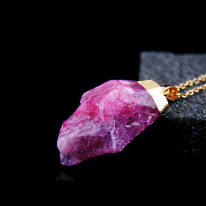 Raw Crystal Solitary necklace