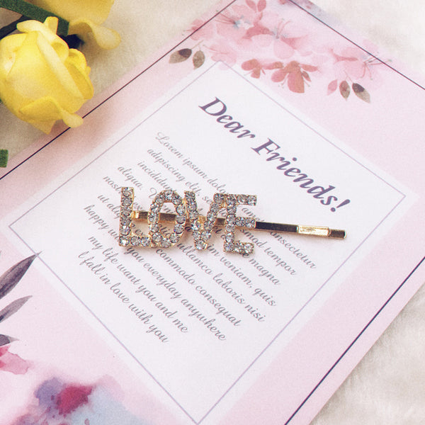 Exclusive Love Side Pin for Hair