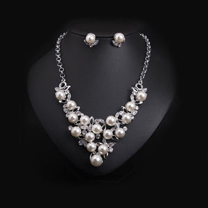 Elaborative Pearl-Studded Choker Necklace Set
