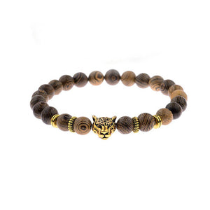 Tiger-Eye Single Layer Bead Bracelet