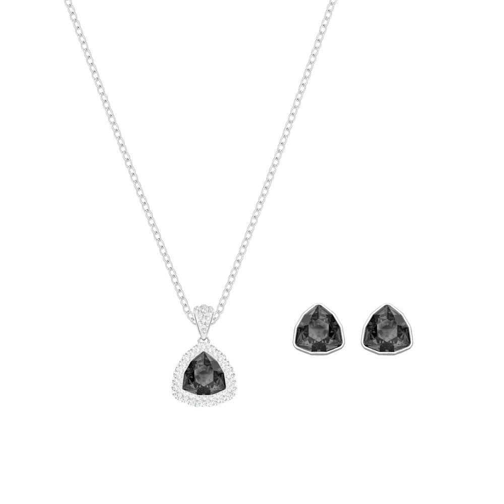 Triangular Gemstone Elite Pendant Set