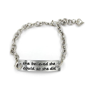 Motivational Quote Statement Bracelet