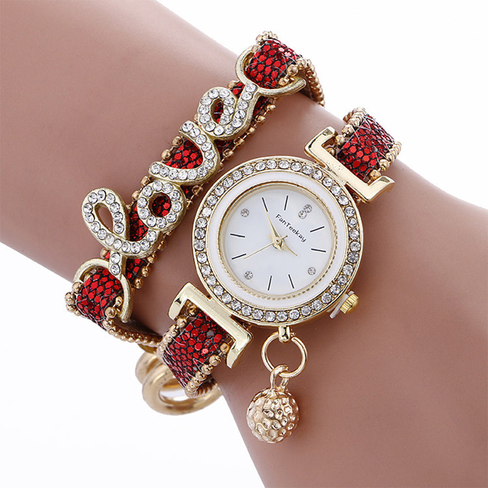 Tantalizing Watch cum Bracelet with Love Sale