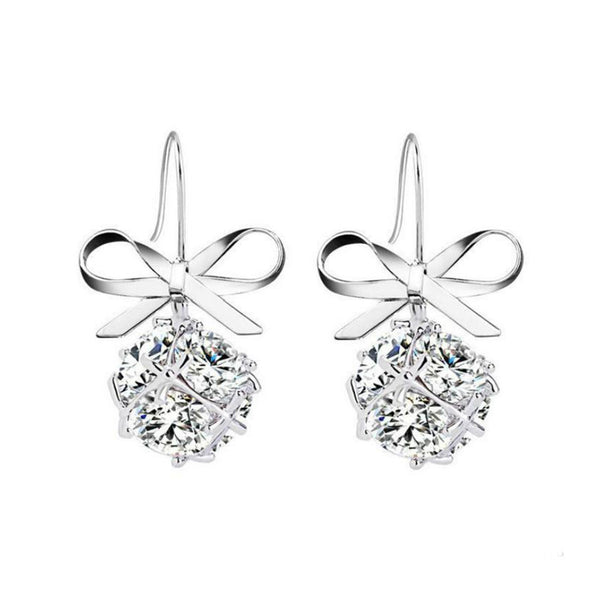 Solitary Dezire Bow Knot Hook Earrings