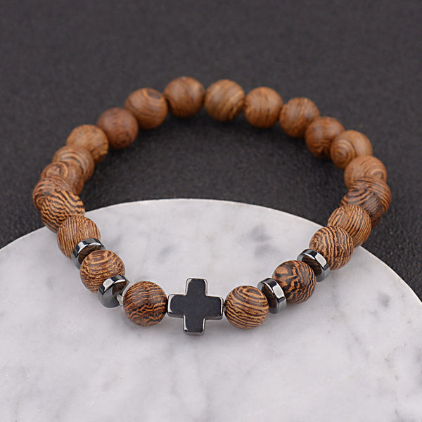 Christ Single Line Bead Bracelet