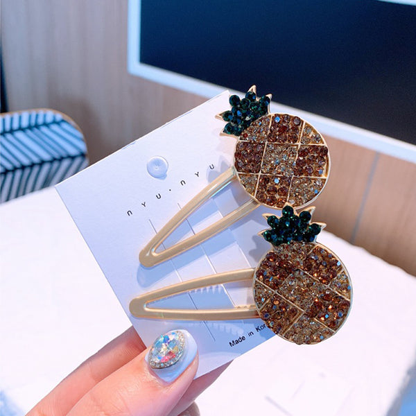 Glittering Pineapple Side Hair Pin