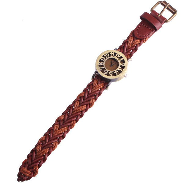 Hollow Vintage Antique Leather Watch