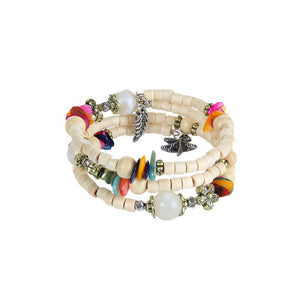 Alabaster and Rainbow Tri-layer Bracelet