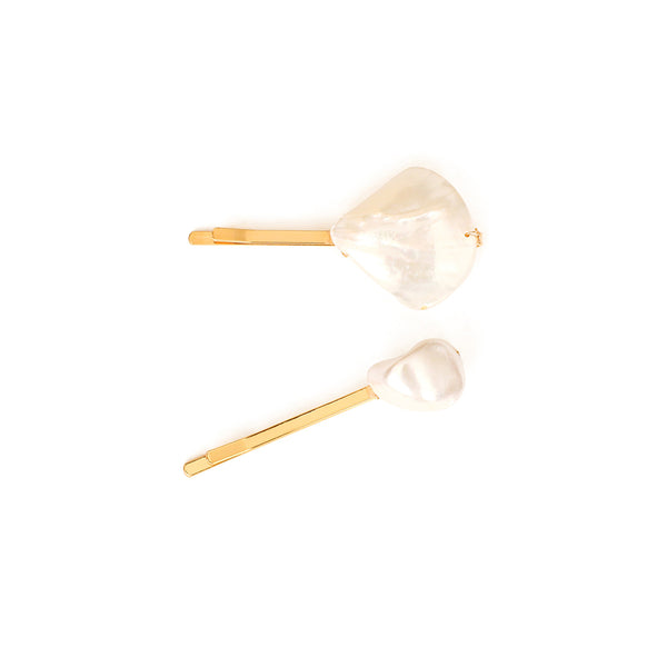 Solitary Alabaster Crystal Stylish Side Pins for Hair