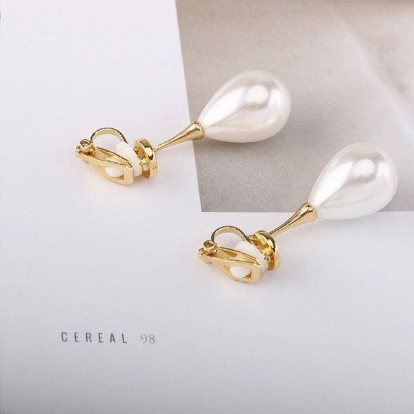 Pearl-Drop Elite Stud Earrings