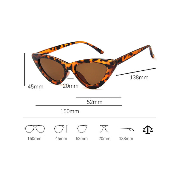 Cat's Eye Triangular Frame Trendy Sunglasses