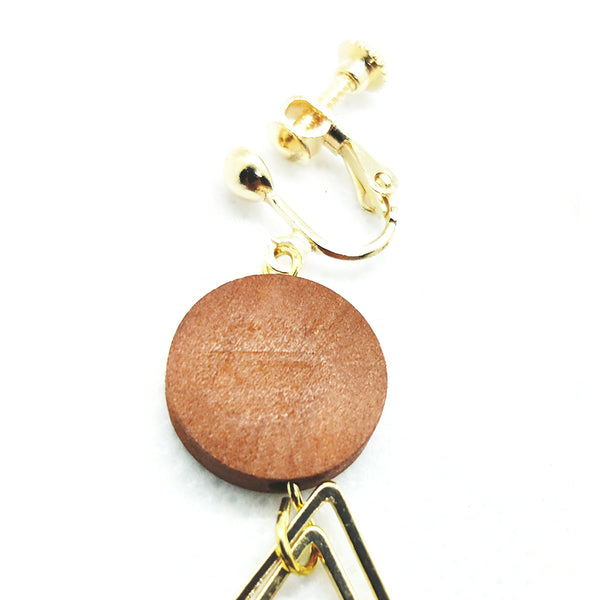 Wood & Metal Earrings