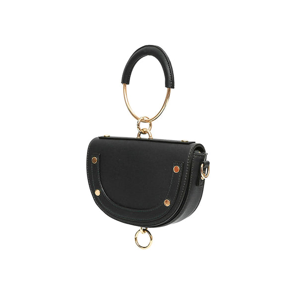 Designer Handbag with round handle