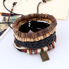 Boho Brown Poker Broad Men's Bracelet