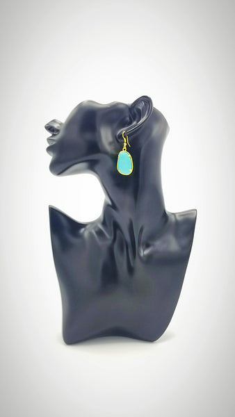 Asymmetrical Solitary Rhinestone Hook Earrings