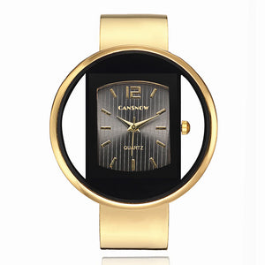 Exquisite Round-Dial Designer Gold Watch